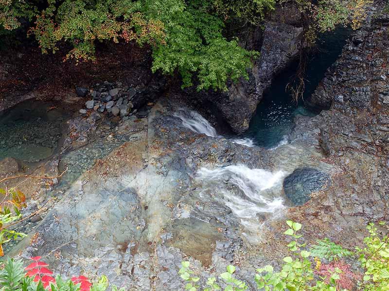 四万の甌穴群 水の流れ