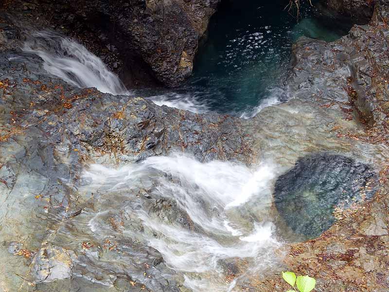 四万の甌穴群 群馬県指定天然記念物